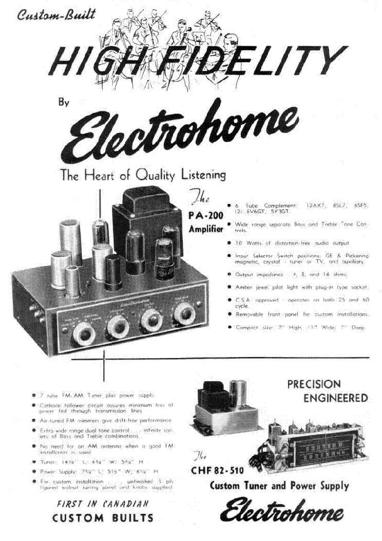 ELECTROHOME PA200-700 SCH Service Manual download