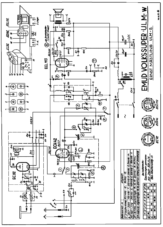 hight resolution of emud volkssuper w ac am fm receiver 1952 sch service manual 2nd page