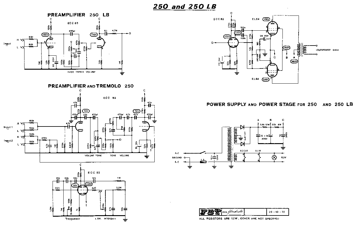 FBT JOLLY 15BA SCH Service Manual download, schematics