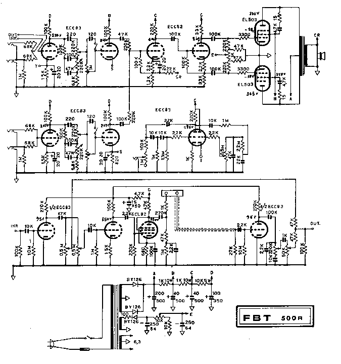 FBT 500R SCH Service Manual download, schematics, eeprom