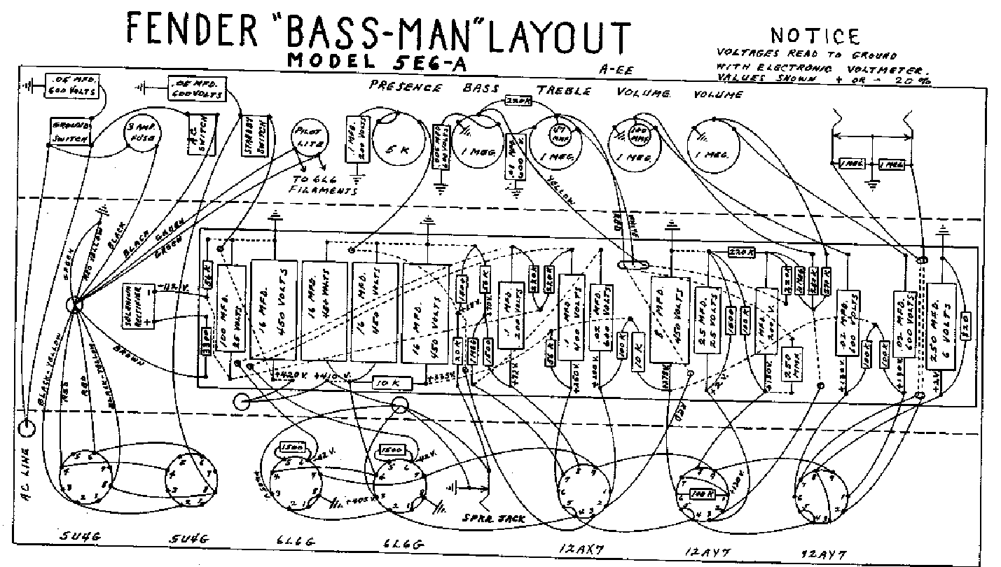 Fender Bassman 5e6a Layout Service Manual Download