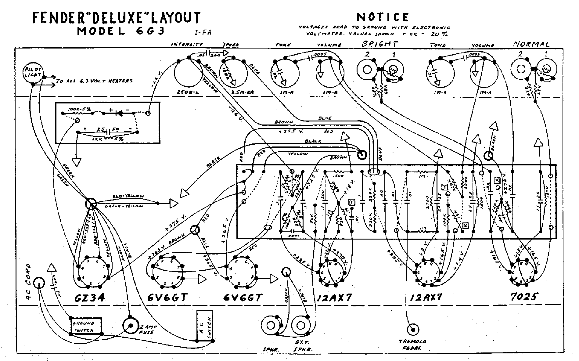 FENDER DELUXE-6G3-LAYOUT Service Manual download
