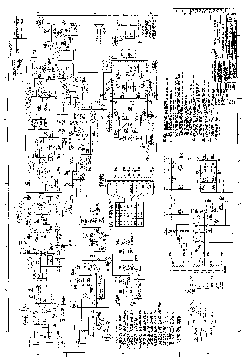 Amp Archives Fender Schematics Fender Deluxe 112 Schematic