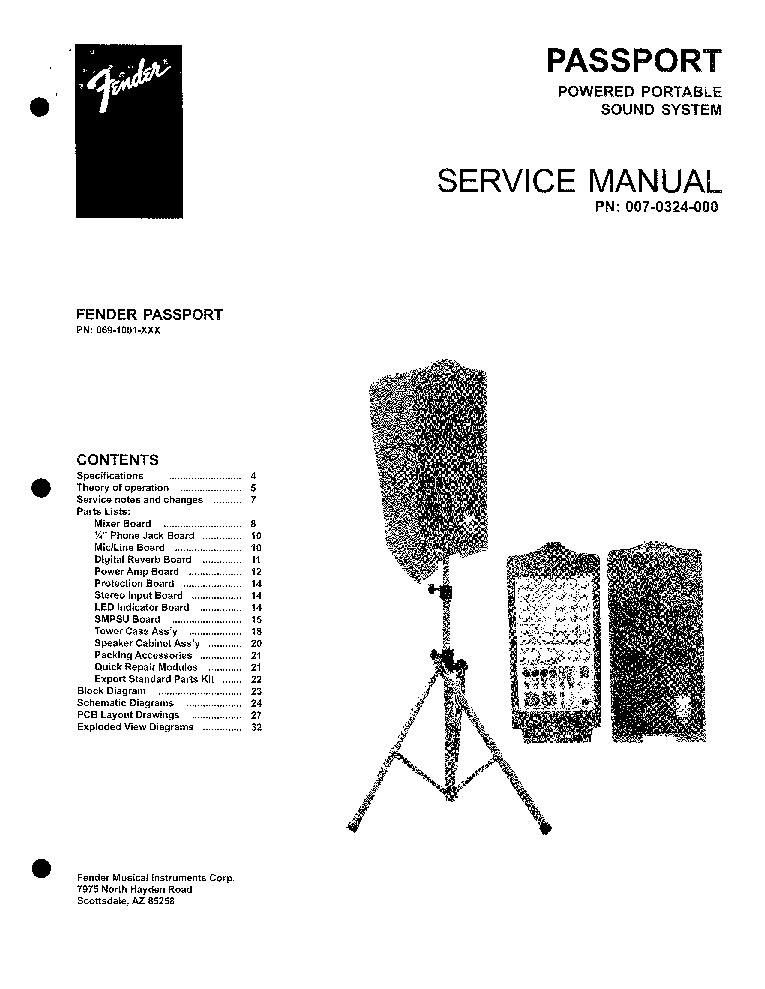 FENDER CHAMP-12 SCH Service Manual download, schematics