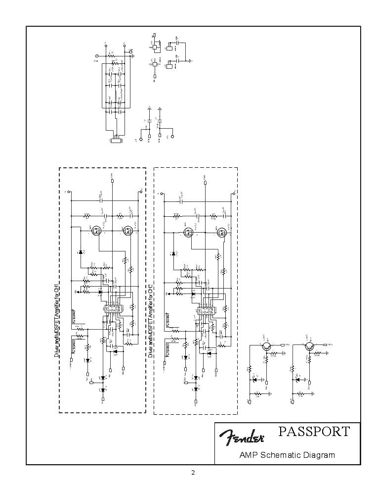FENDER PASSPORT PRO-500 SCH Service Manual download