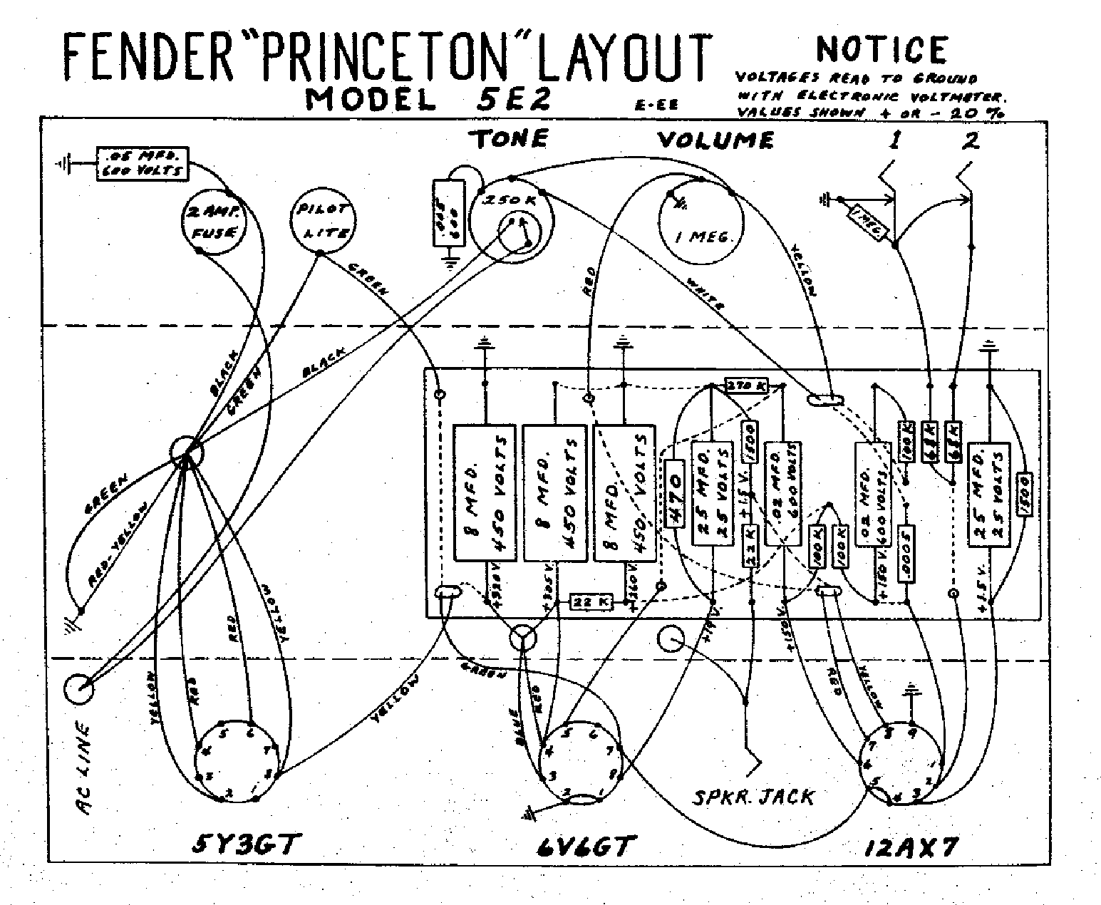 FENDER PRINCETON-5E2-LAYOUT Service Manual download