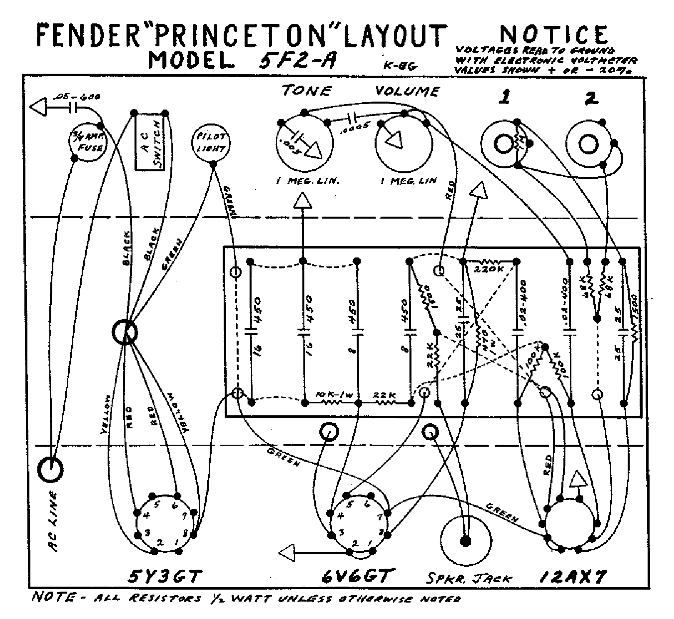 schematic for fender bassman 1959