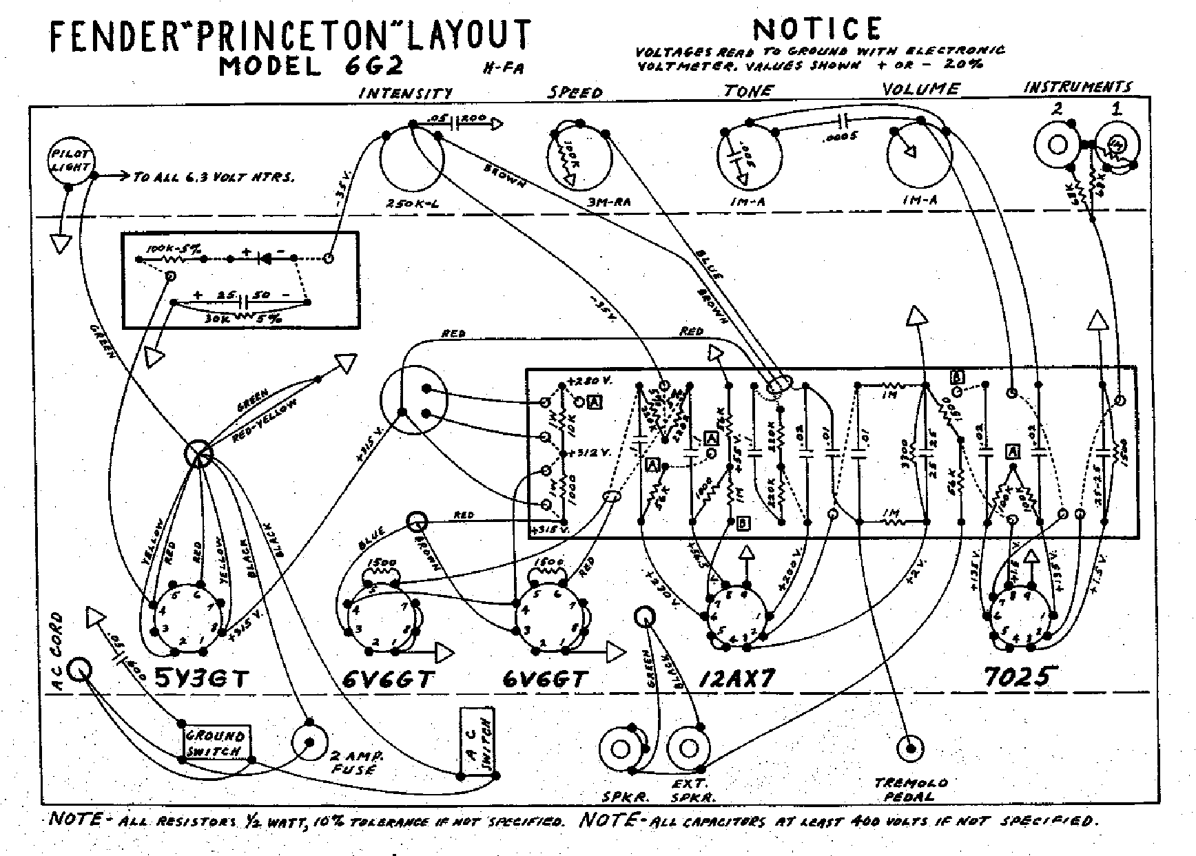 FENDER PRINCETON-6G2-LAYOUT Service Manual download