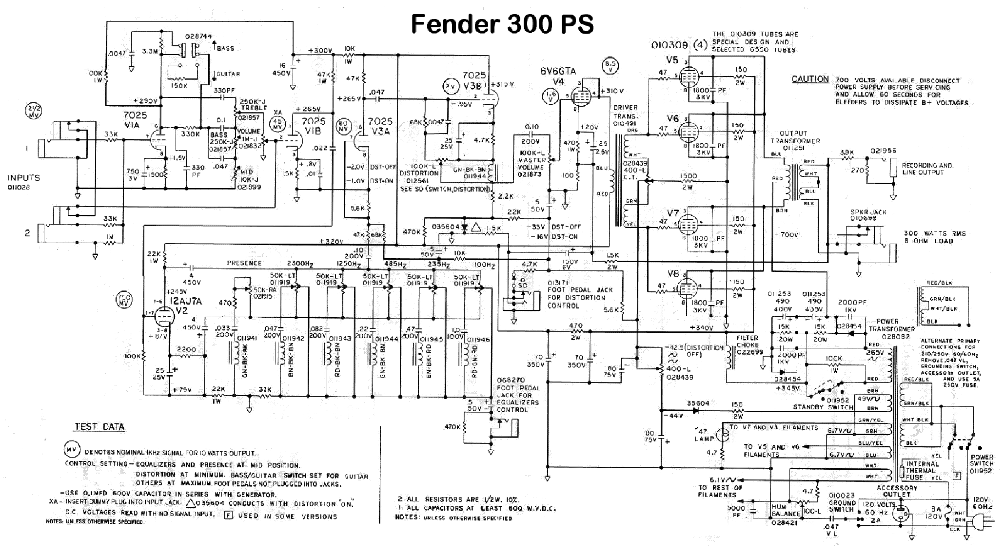 Fender Ps300 Service Manual Download Schematics Eeprom
