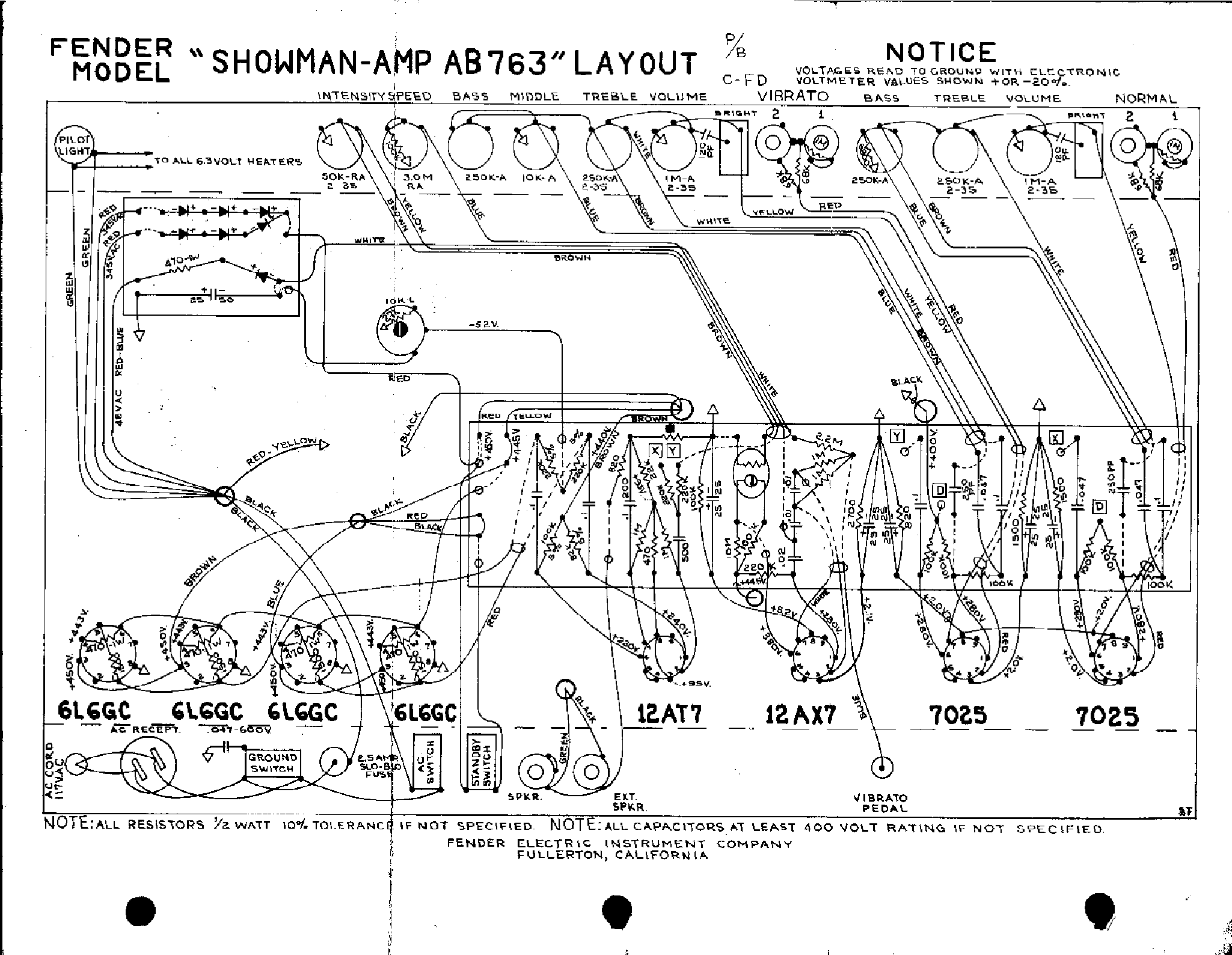 FENDER SHOWMAN-AB763-LAYOUT Service Manual download