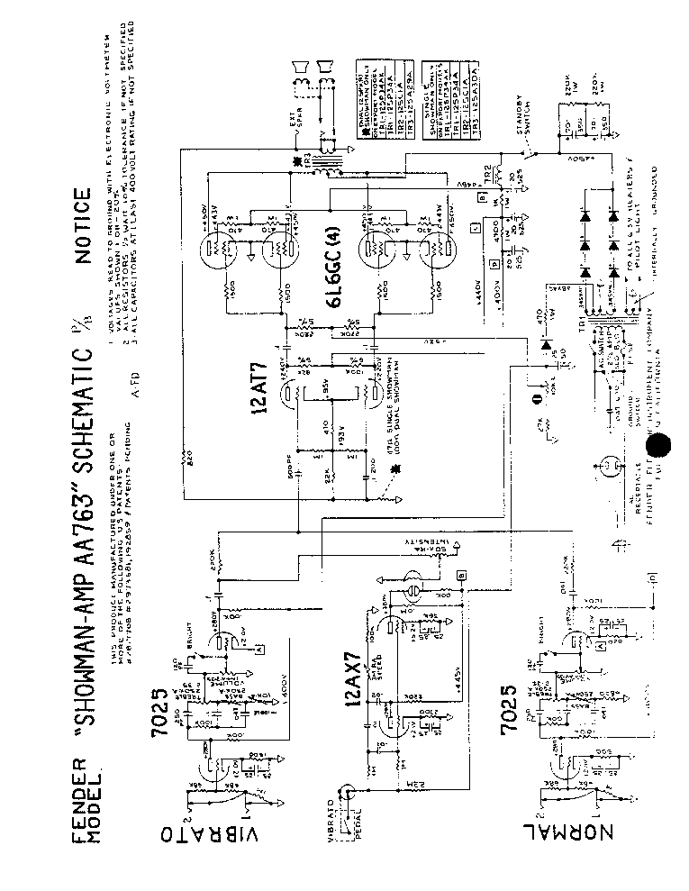 FENDER TWIN-5E8A Service Manual free download, schematics