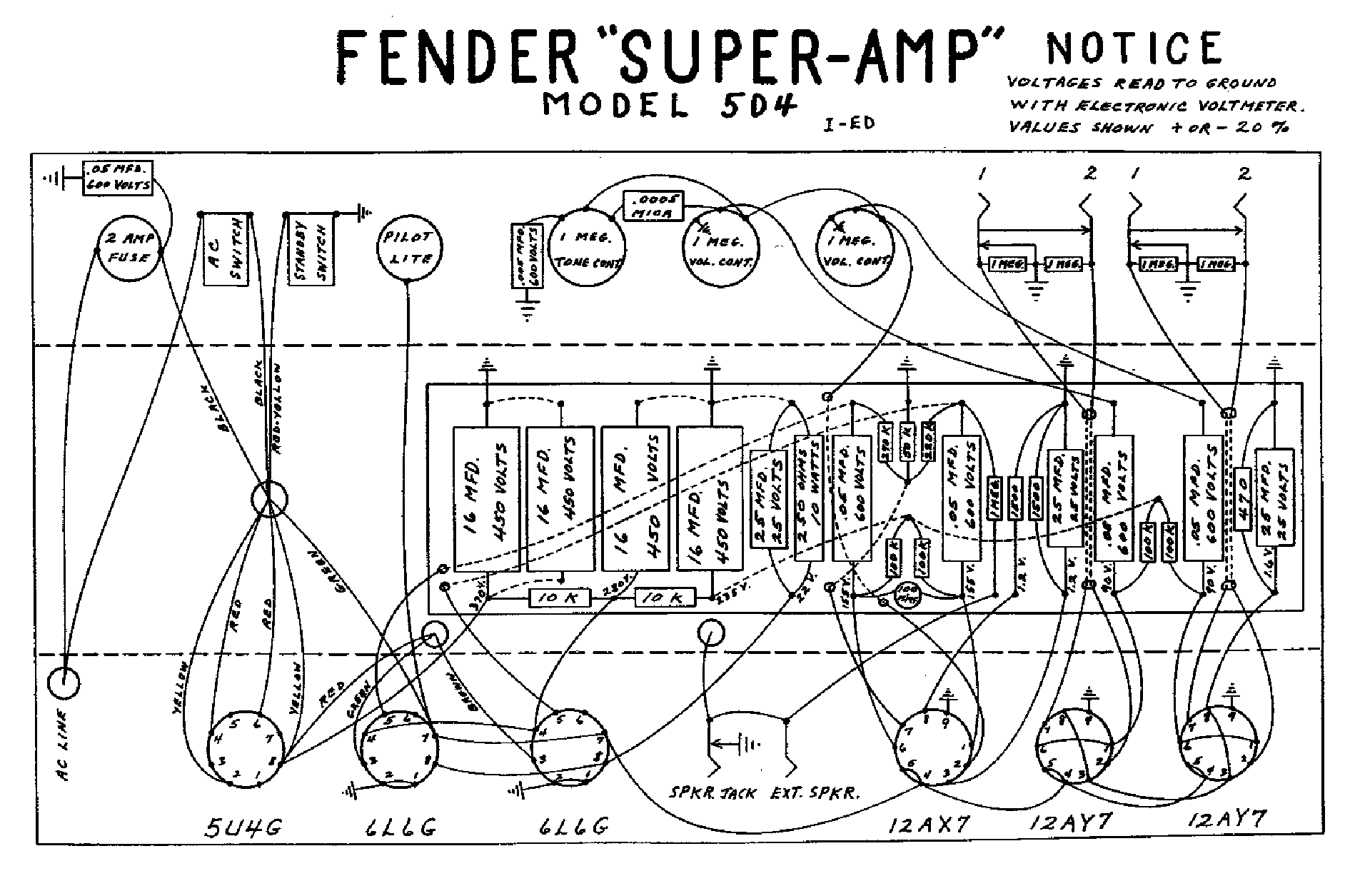 FENDER TWIN REVERB AB763 SCH Service Manual download