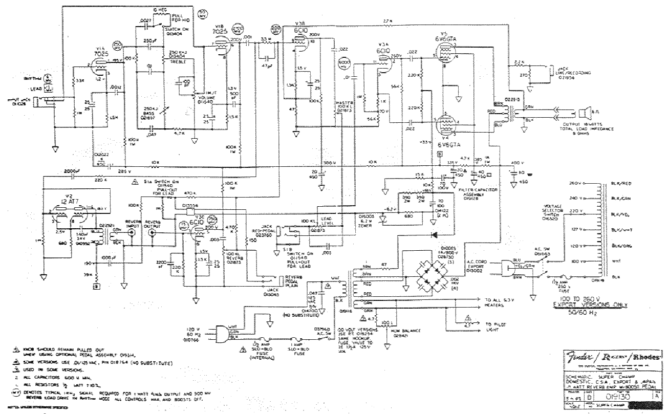 Fender Super Champ Service Manual Download Schematics