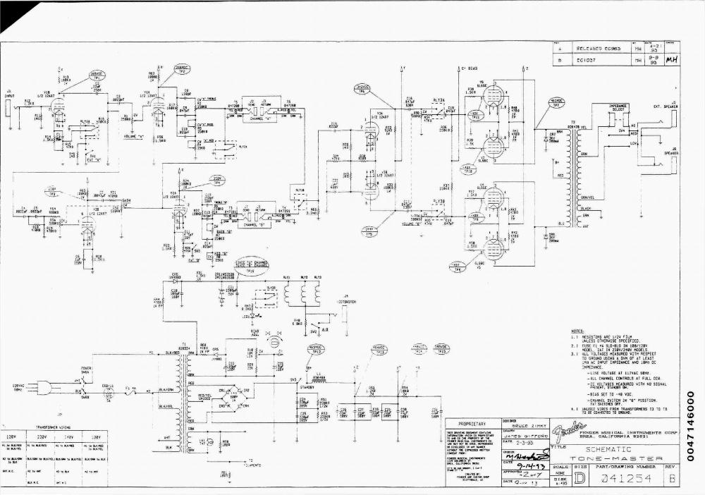 medium resolution of fender tone master rev b sch service manual download schematics fender triple coil pickup wiring fender tone master wiring schematic