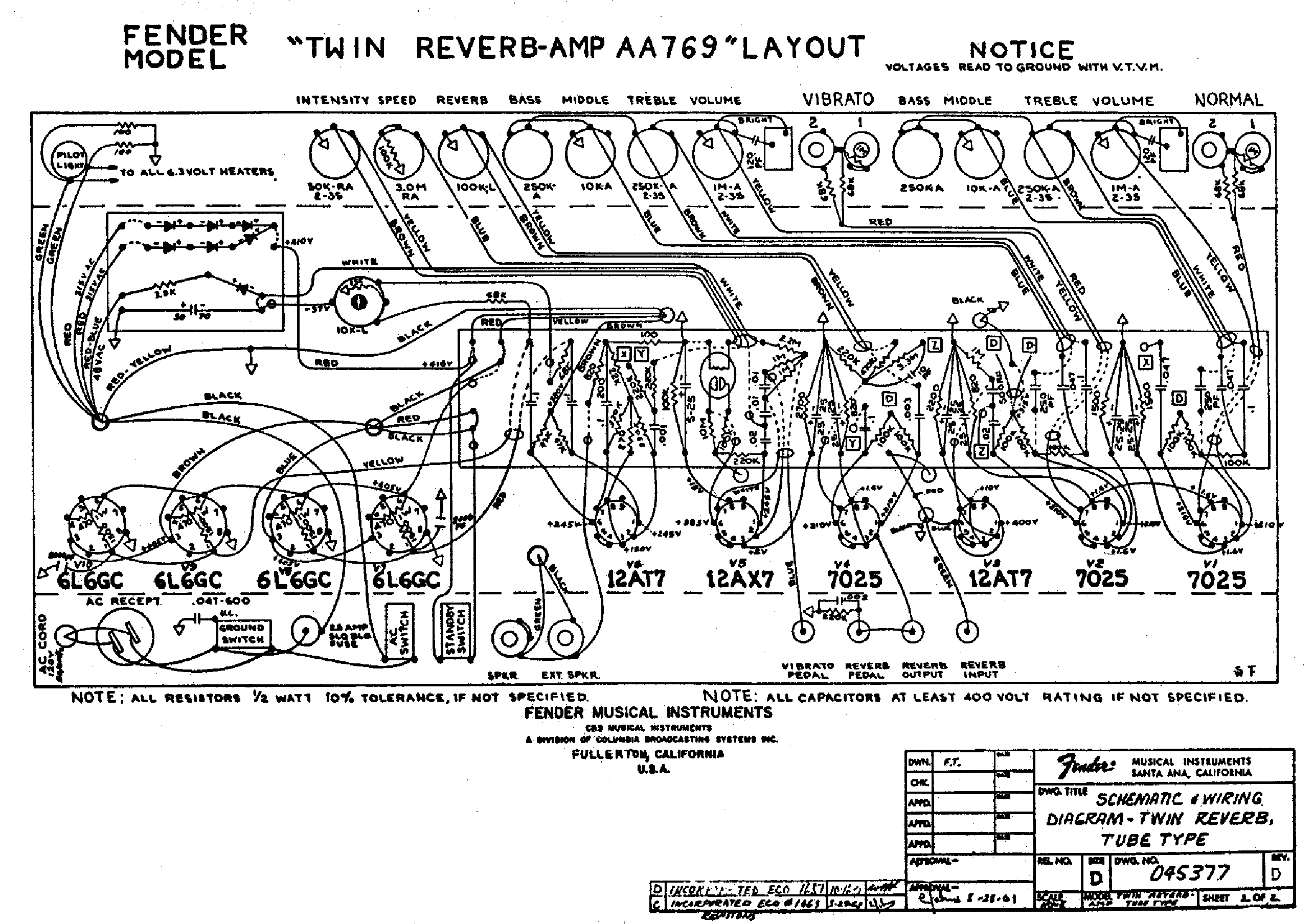 FENDER TWIN-REVERB-AA769-LAYOUT Service Manual download