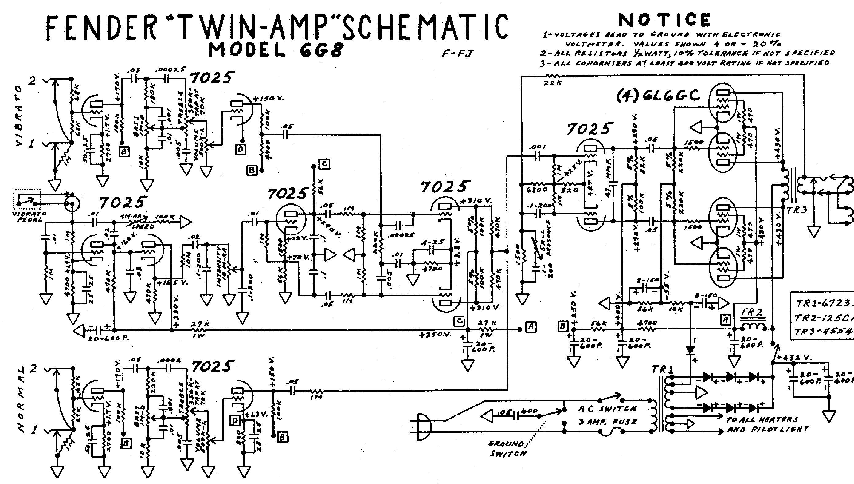 FENDER PA135 Service Manual download, schematics, eeprom