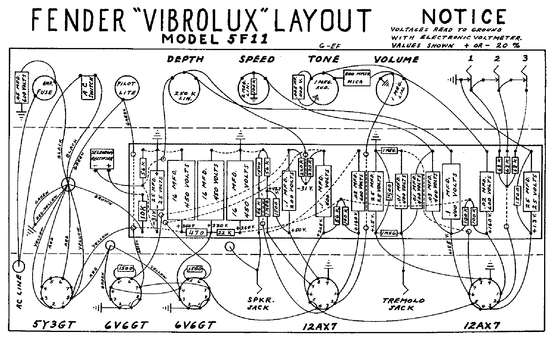 FENDER VIBROLUX-5F11-LAYOUT Service Manual download