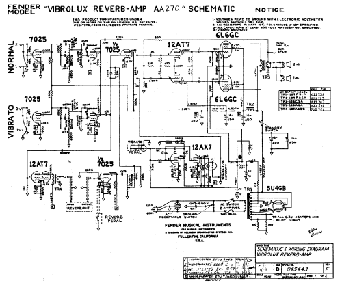 small resolution of vibrolux reverb schematic online manuual of wiring diagram silverface vibrolux reverb schematic fender vibrolux reverb aa270