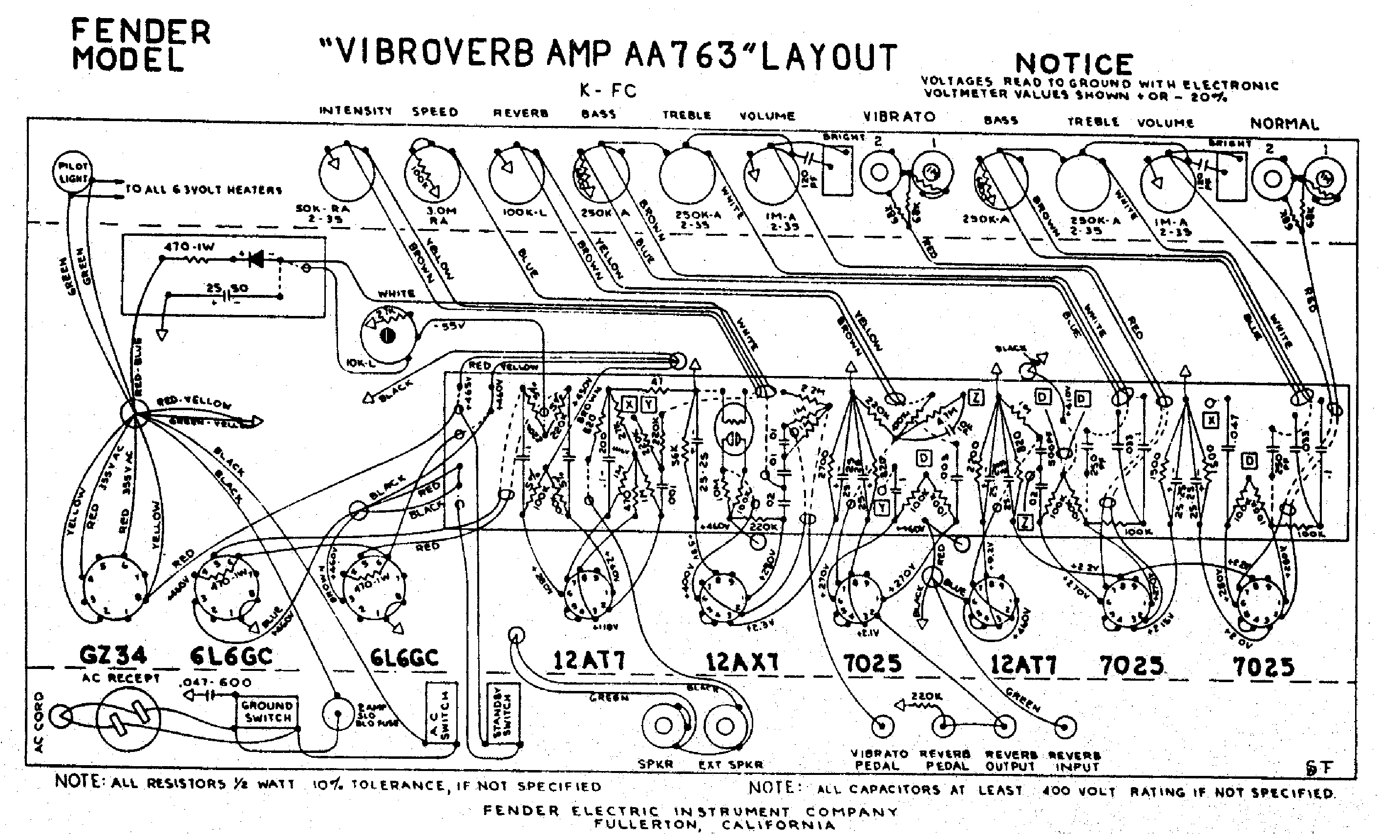 Fender Champ Amp Schematic Layout