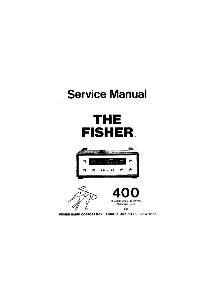 FISHER 400 Service Manual download, schematics, eeprom
