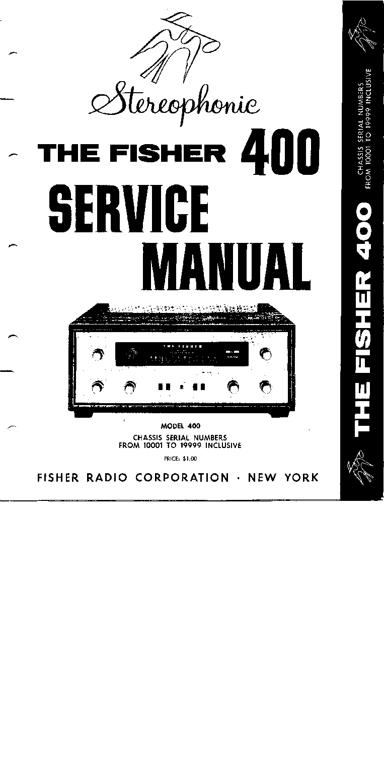 FISHER X-100-A X-100-3 SM Service Manual download