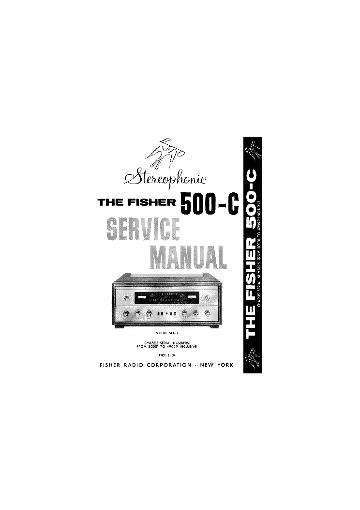 FISHER 400CX PARTS SCH Service Manual download, schematics
