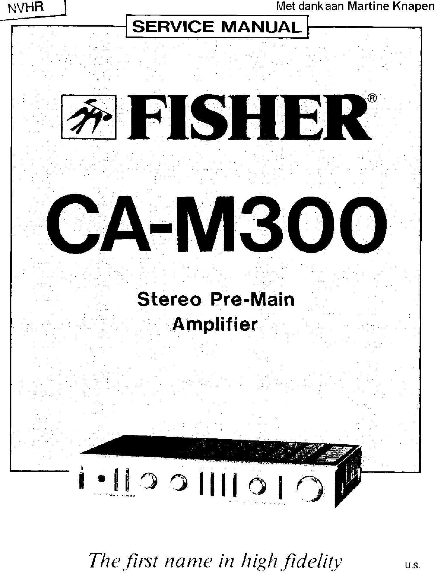FISHER 600 VALVES STEREO RECEIVER SM Service Manual