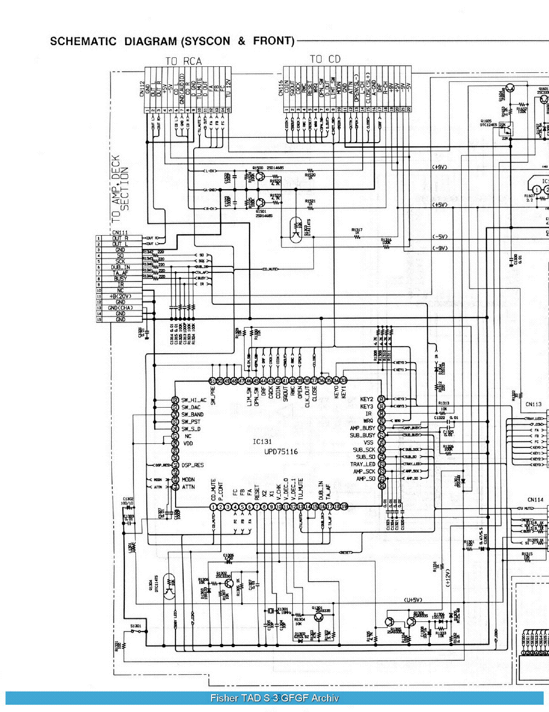 FISHER TAD S3 SCHEMATIC Service Manual download