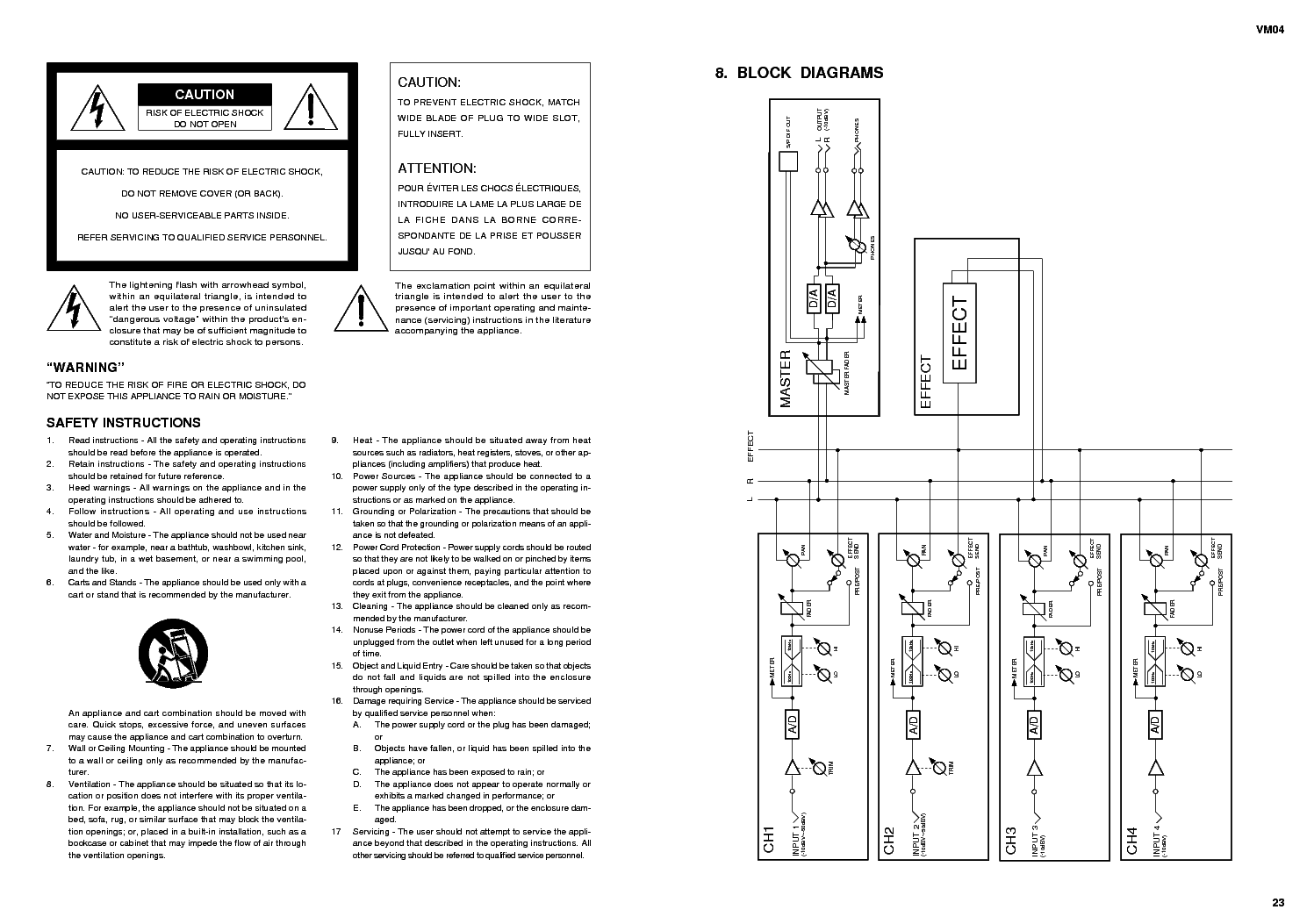 FOSTEX VM04 Service Manual download, schematics, eeprom