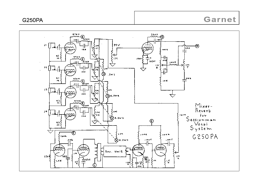 GARNET BTO POWER AMP SCHEMATIC Service Manual download
