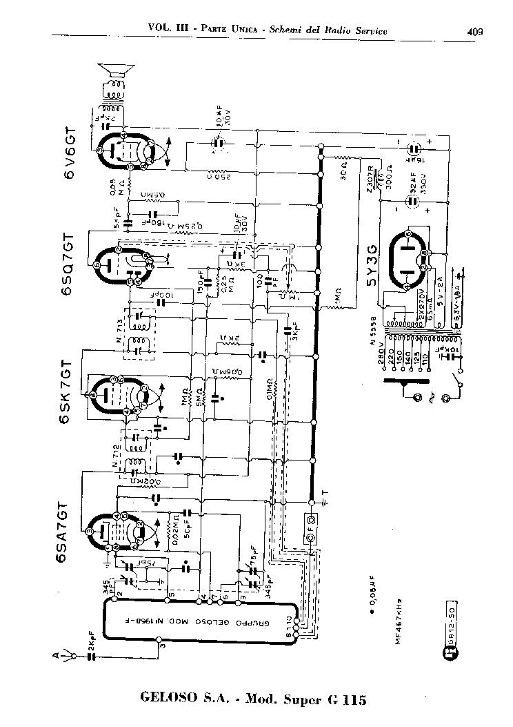 GELOSO G256. MAGNETOPHONE SCH Service Manual download