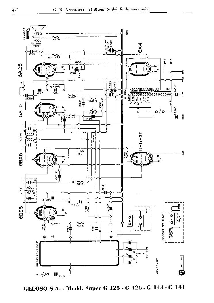 GELOSO 207 DR SUPER RECEIVER AND 2617 TUNER SCH Service