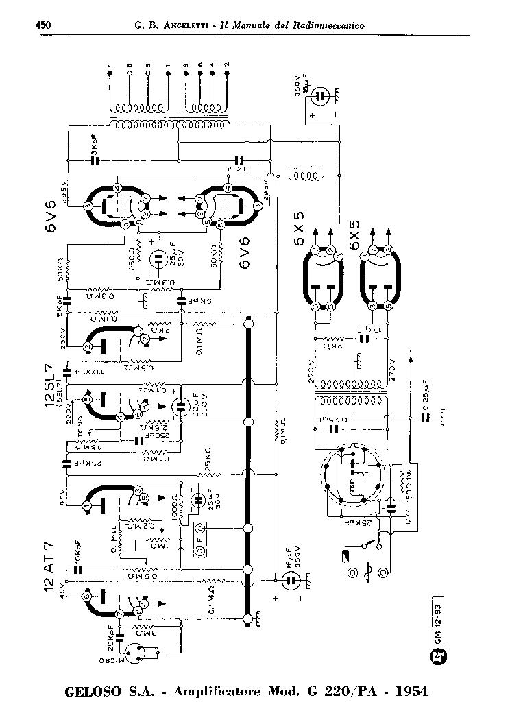 GELOSO 214A AMPLIFIER SCH Service Manual download