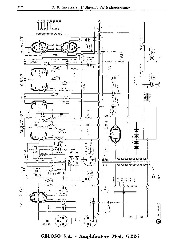 GELOSO 226 AMPLIFIER SCH Service Manual download