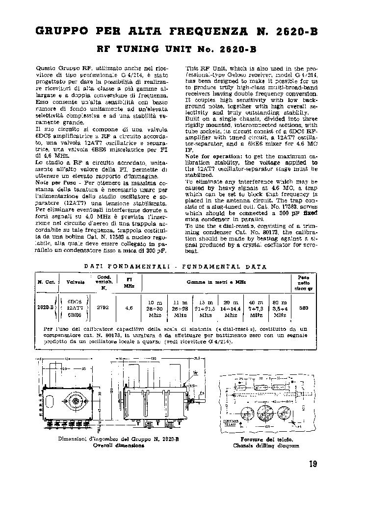 GELOSO 2620B RF TUNER SM.DJVU Service Manual download