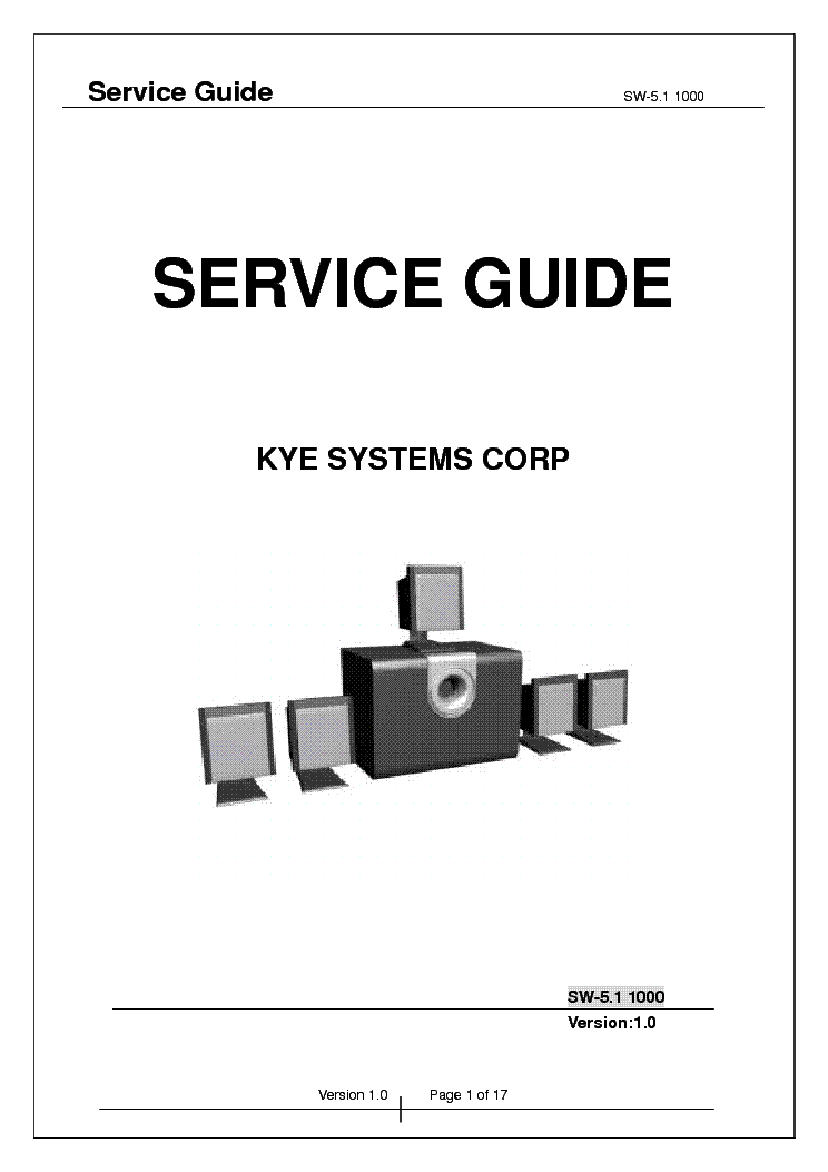 GENIUS SW-HF-5.1-5005 VER-1.0 SM Service Manual download