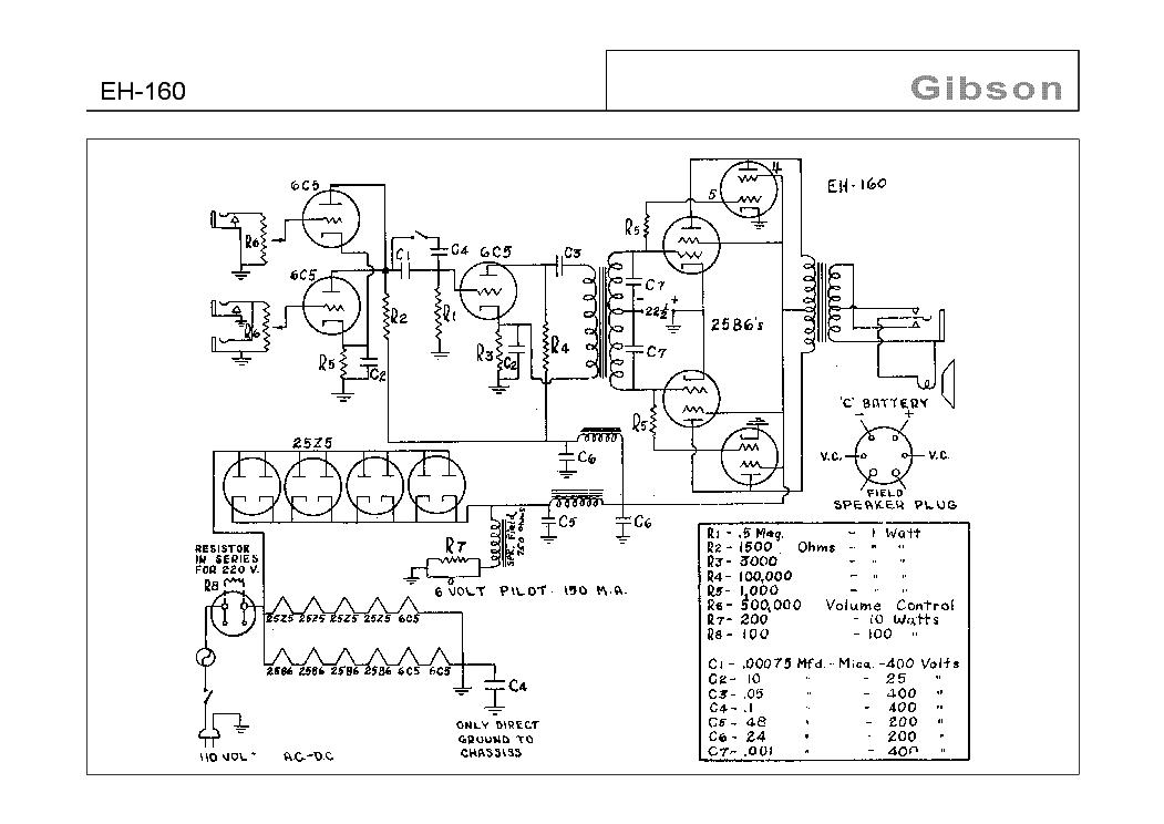 GIBSON GA-30 12AX7 PREAMP SCH Service Manual download