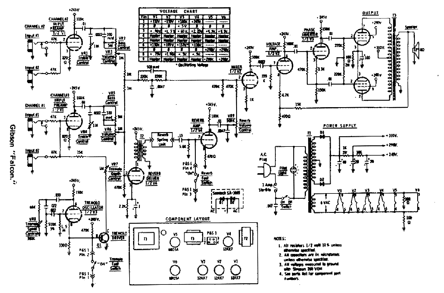 GIBSON GA-20 SCHEMATIC Service Manual download, schematics