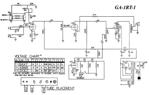 small resolution of gibson ga 1rt sch service manual 1st page