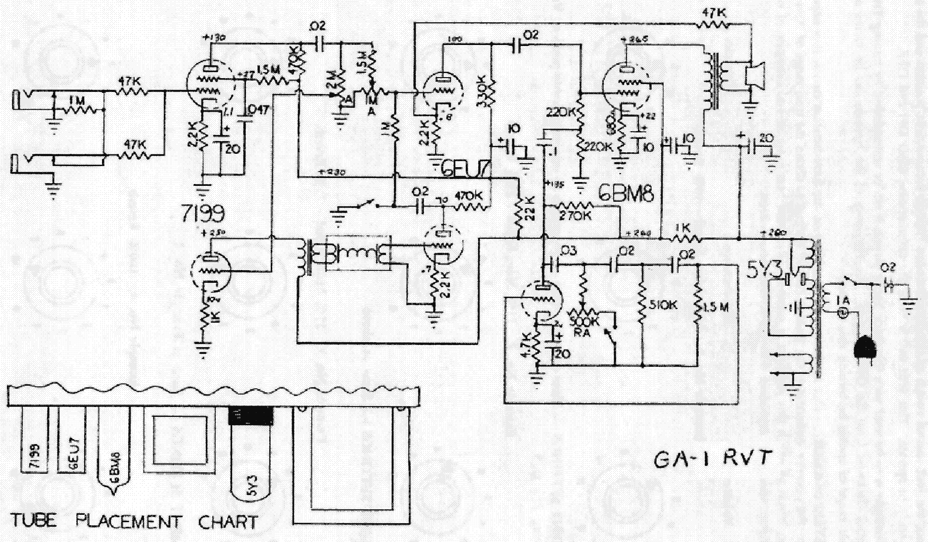 GIBSON GA-1RVT Service Manual download, schematics, eeprom
