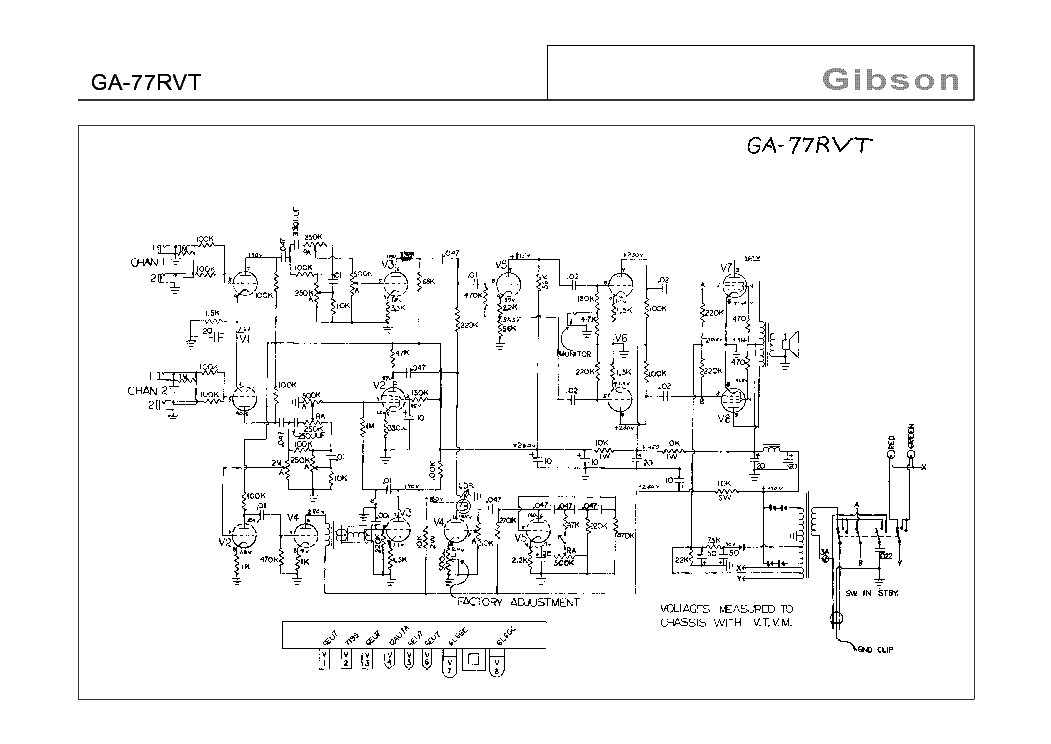 GIBSON GA-20T SCH-2 Service Manual free download