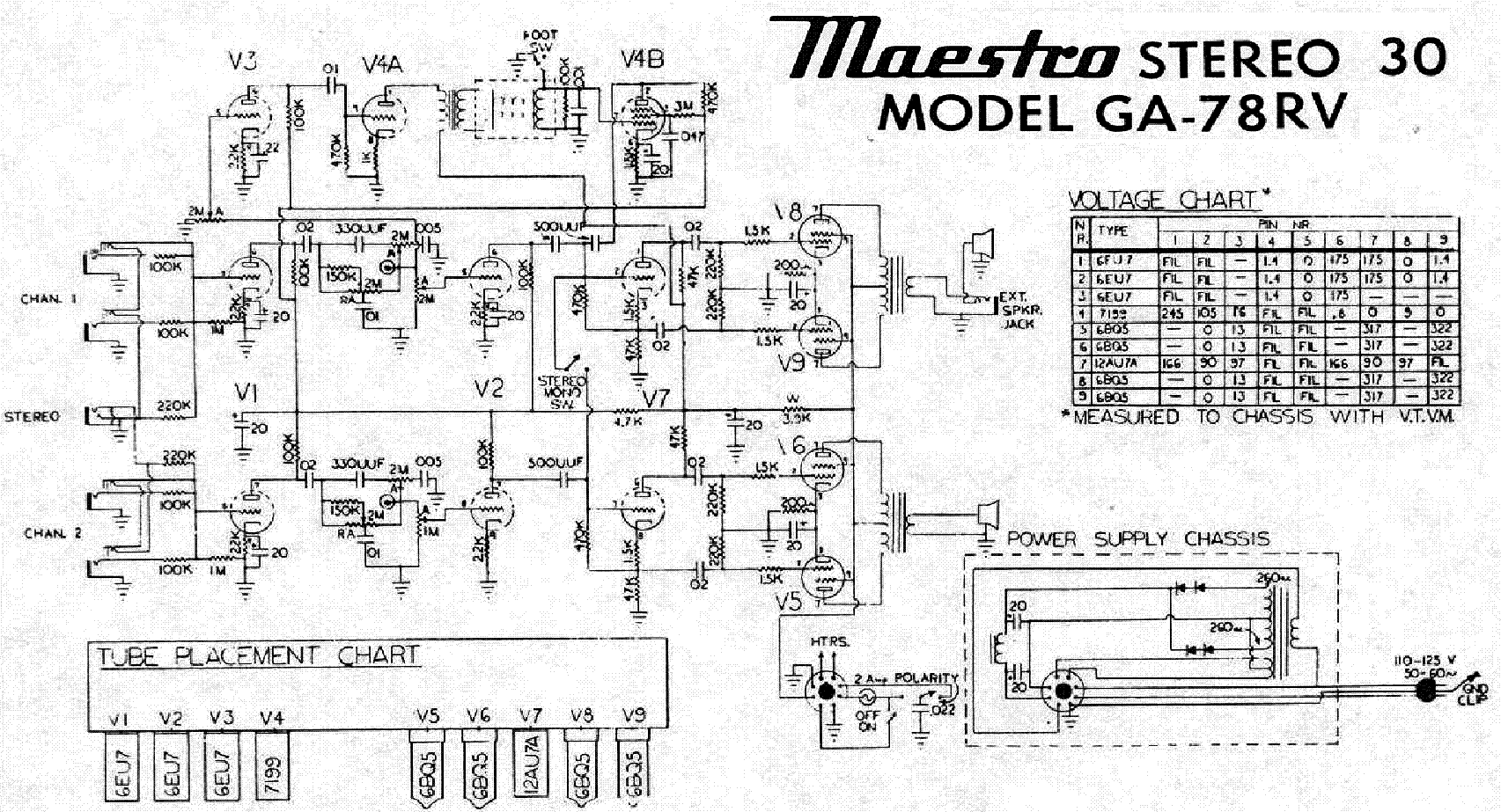 Gibson Ga 75 Later Schematic Service Manual Download