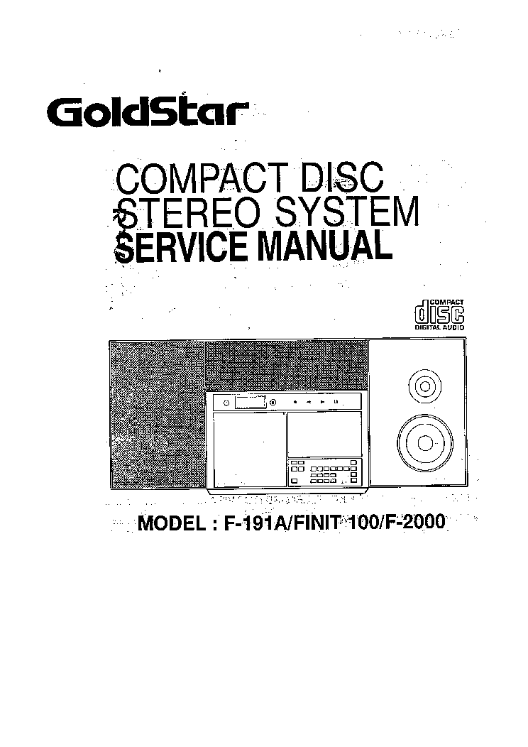 GOLDSTAR F-191A Service Manual download, schematics
