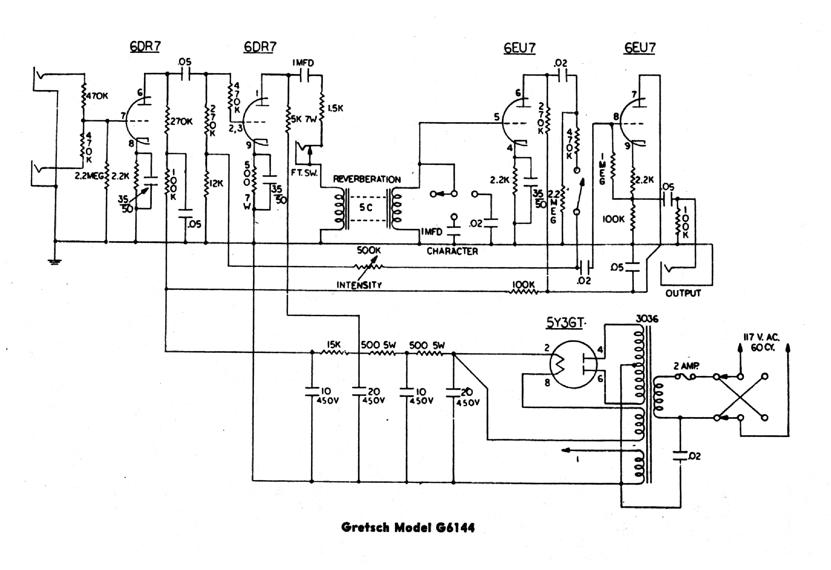 GRETSCH 6160 Service Manual download, schematics, eeprom