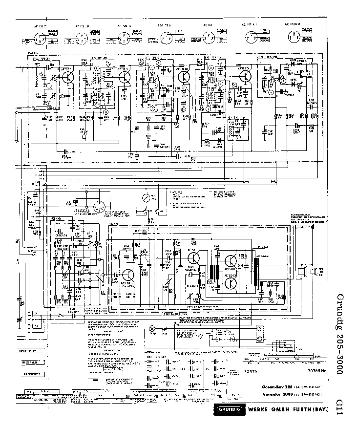 GRUNDIG 205-3000 SCH Service Manual download, schematics