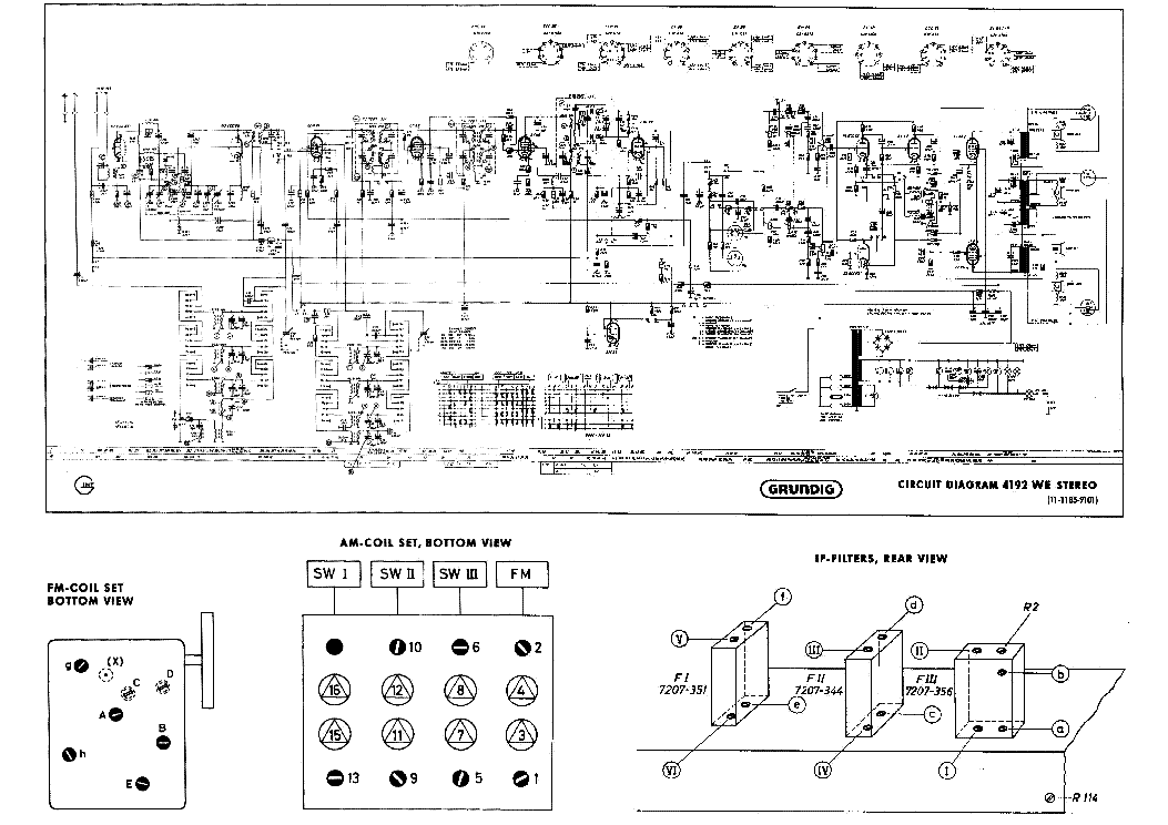 GRUNDIG R301 Service Manual download, schematics, eeprom