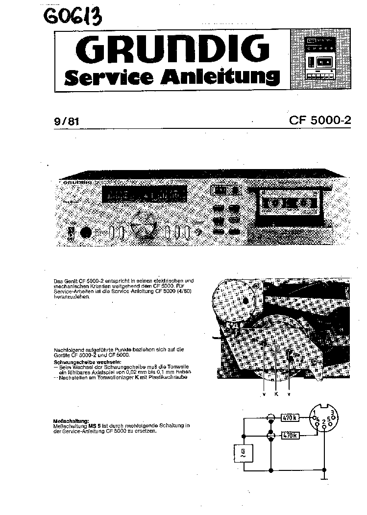 GRUNDIG CF-5000-2 SCH Service Manual download, schematics