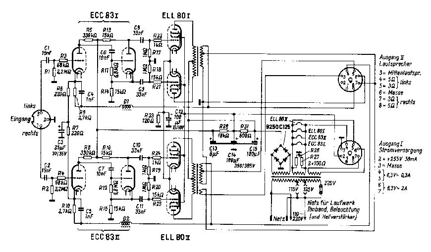 GRUNDIG NF1 AMP Service Manual download, schematics