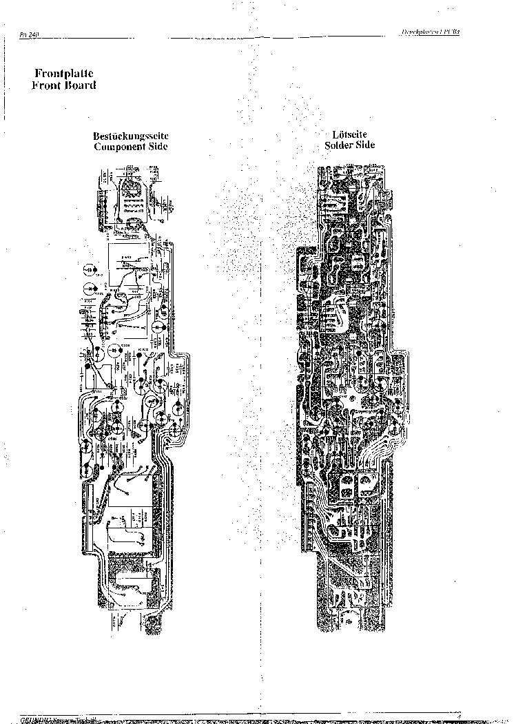 GRUNDIG PA240 Service Manual download, schematics, eeprom