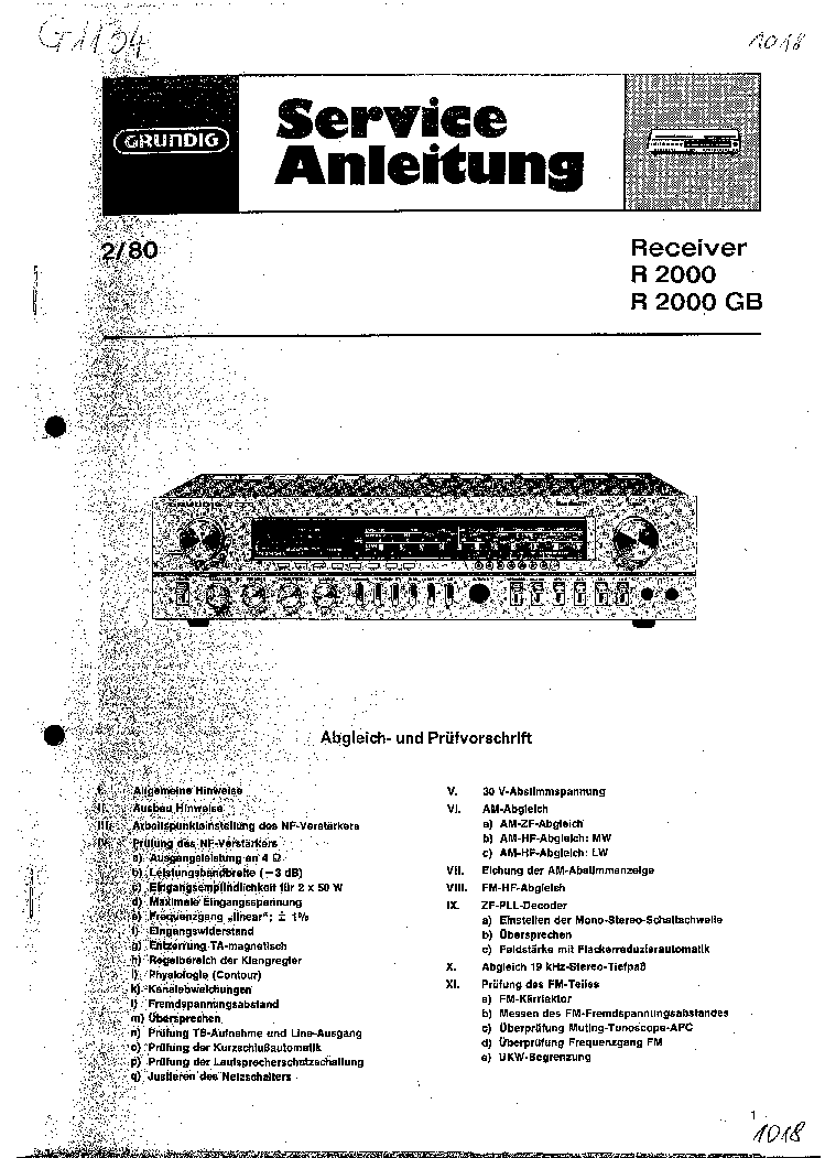 GRUNDIG R2000-GB SM Service Manual download, schematics